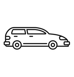 modern car icon outline style vector image