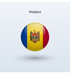 Moldova round flag vector