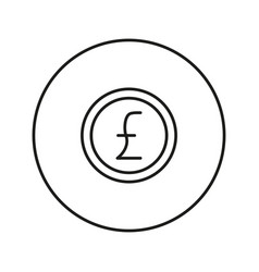 Money sign coin pound vector