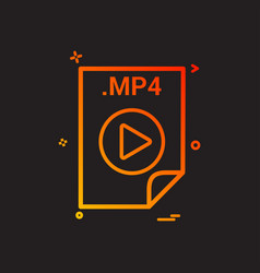 mp4 application download file files format icon vector image