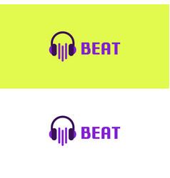 Music beat logo vector