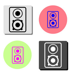 music column audio speakers flat icon vector image