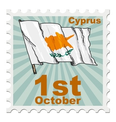 national day of Cyprus vector image