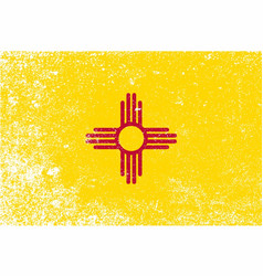 New mexico state flag grunge vector