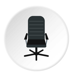 Office leather chair icon circle vector