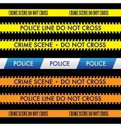 Police Line Do Not Cross Tape Design vector image