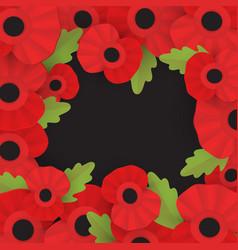 Remembrance poppy - poppy appeal vector