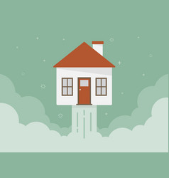 rocket house vector image