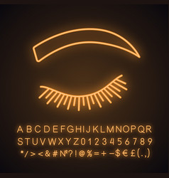 Rounded eyebrow shape neon light icon vector