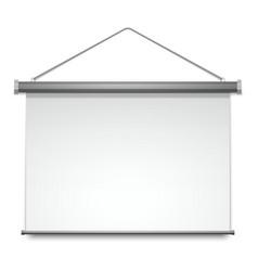 screen projector presentation white board display vector image