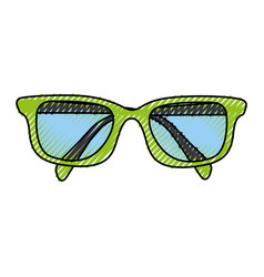 scribble glasses cartoon vector image