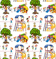 Seamless background with children in the vector image