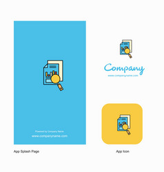 search document company logo app icon and splash vector image