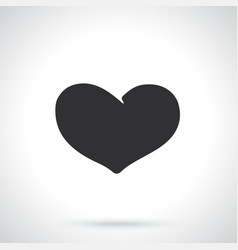 silhouette heart vector image