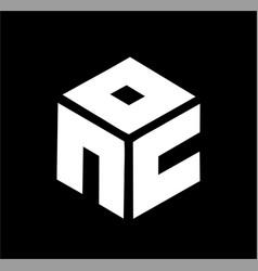 simple nc cn noc con ocn initials company logo vector image
