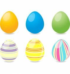 Six Easter eggs vector