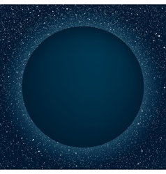 Starry Night Sky Planet Blue Circle Stars vector