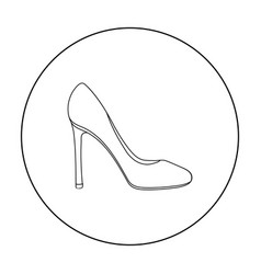 Stiletto icon in outline style isolated on white vector