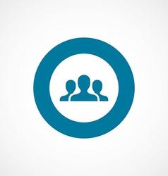 Team bold blue border circle icon vector