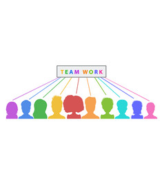 teamwork banner design collaboration abstract vector image