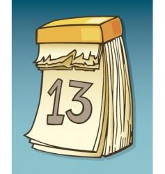 Thirteenth on calendar vector