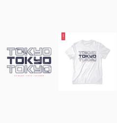 tokyo abstract geometric t-shirt design vector image