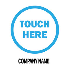 Touch here company logo design template business vector