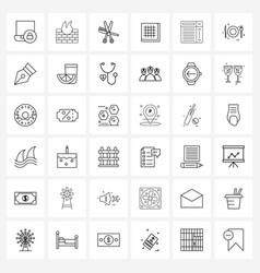 Ui set 36 basic line icons waffle breakfast vector