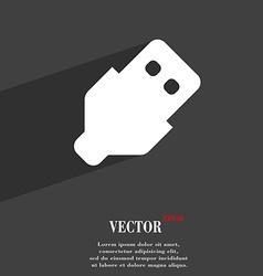 USB icon symbol Flat modern web design with long vector image