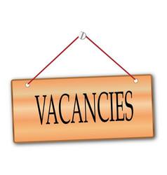 Vacancies wooden board vector