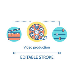 video distribution concept icon vector image