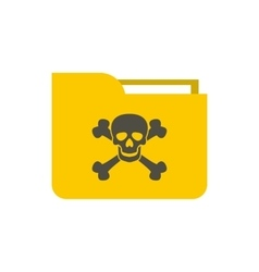 Virus in e-mail icon flat style vector image