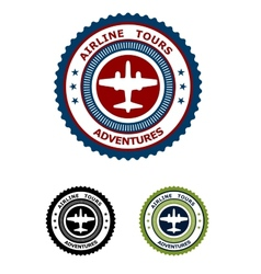 Airlines tour adventures symbol vector image vector image