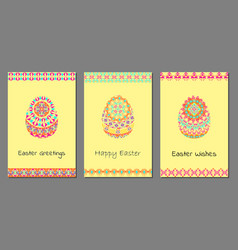 set of happy easter background vector image vector image