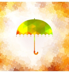 Umbrella and rain drops EPS 10 vector image