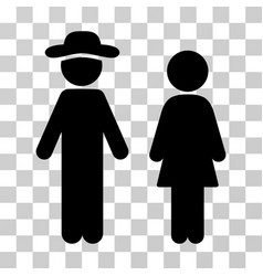Gentleman and lady icon vector
