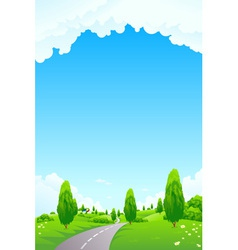 landscape with trees vector image vector image