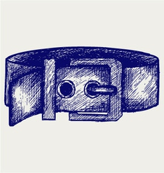 Mans belt vector image vector image