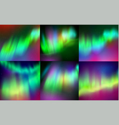 northern lights backgrounds vector image