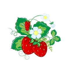 Strawberries hand draw cartoon vector image vector image