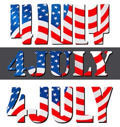 4th July American Independence Day vector image vector image