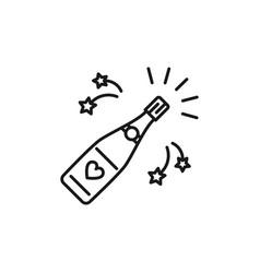 Champagne bottle opening icons celebration vector