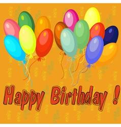 Happy birthday 2 vector image