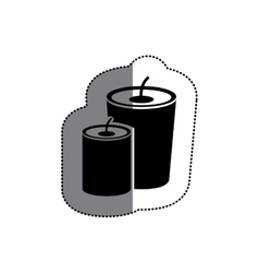 Isolated candle design vector image