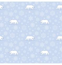 pattern snow polarbear vector image