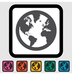 Simple World globe vector image
