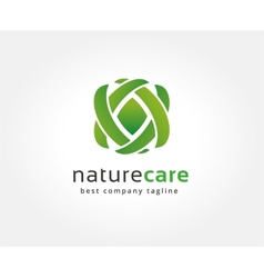 Abstract nature logo icon concept Logotype vector image vector image