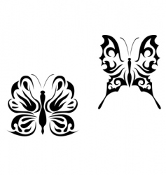 butterfly tattoo vector image vector image
