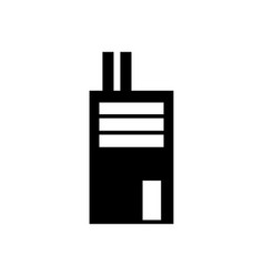 factory icon solid pictogram vector image vector image