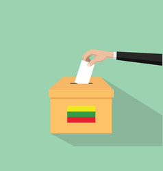 lithuania vote election concept with vector image